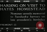 Image of President W G Harding Fremont Ohio USA, 1919, second 11 stock footage video 65675030513