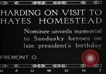 Image of President W G Harding Fremont Ohio USA, 1919, second 12 stock footage video 65675030513