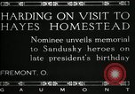 Image of President W G Harding Fremont Ohio USA, 1919, second 13 stock footage video 65675030513