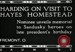 Image of President W G Harding Fremont Ohio USA, 1919, second 14 stock footage video 65675030513