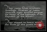 Image of Pan American Highway Commission Washington DC USA, 1924, second 56 stock footage video 65675030545