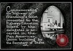 Image of Highway of Friendship plaque Washington DC USA, 1925, second 6 stock footage video 65675030560