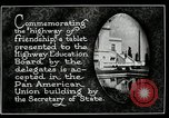 Image of Highway of Friendship plaque Washington DC USA, 1925, second 9 stock footage video 65675030560