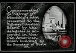 Image of Highway of Friendship plaque Washington DC USA, 1925, second 12 stock footage video 65675030560