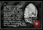 Image of Highway of Friendship plaque Washington DC USA, 1925, second 13 stock footage video 65675030560