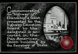 Image of Highway of Friendship plaque Washington DC USA, 1925, second 14 stock footage video 65675030560