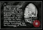 Image of Highway of Friendship plaque Washington DC USA, 1925, second 16 stock footage video 65675030560