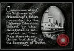 Image of Highway of Friendship plaque Washington DC USA, 1925, second 18 stock footage video 65675030560