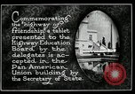 Image of Highway of Friendship plaque Washington DC USA, 1925, second 19 stock footage video 65675030560