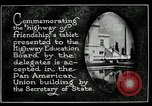 Image of Highway of Friendship plaque Washington DC USA, 1925, second 20 stock footage video 65675030560