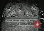 Image of Highway of Friendship plaque Washington DC USA, 1925, second 47 stock footage video 65675030560