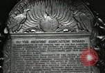 Image of Highway of Friendship plaque Washington DC USA, 1925, second 49 stock footage video 65675030560