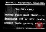 Image of bullet proof cloth test Toledo Ohio USA, 1932, second 7 stock footage video 65675030579