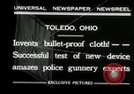 Image of bullet proof cloth test Toledo Ohio USA, 1932, second 8 stock footage video 65675030579