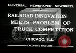 Image of automobile delivery by trains Chicago Illinois USA, 1932, second 2 stock footage video 65675030580