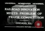 Image of automobile delivery by trains Chicago Illinois USA, 1932, second 3 stock footage video 65675030580