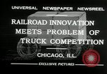 Image of automobile delivery by trains Chicago Illinois USA, 1932, second 5 stock footage video 65675030580