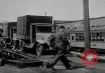 Image of automobile delivery by trains Chicago Illinois USA, 1932, second 58 stock footage video 65675030580