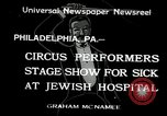 Image of circus performers Philadelphia Pennsylvania USA, 1934, second 1 stock footage video 65675030598