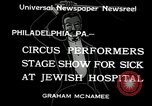 Image of circus performers Philadelphia Pennsylvania USA, 1934, second 3 stock footage video 65675030598