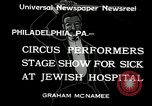 Image of circus performers Philadelphia Pennsylvania USA, 1934, second 5 stock footage video 65675030598
