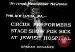 Image of circus performers Philadelphia Pennsylvania USA, 1934, second 7 stock footage video 65675030598