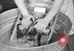 Image of Domestic chores without electricity Saint Clairsville Ohio USA, 1940, second 43 stock footage video 65675030602