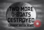 Image of Attack on German U-boat European theater, 1942, second 4 stock footage video 65675030630