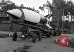 Image of Rocket on way to launch pad Peenemunde Germany, 1943, second 37 stock footage video 65675030650