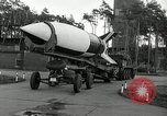 Image of Rocket on way to launch pad Peenemunde Germany, 1943, second 38 stock footage video 65675030650
