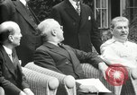 Image of Big Three leaders Truman Atlee and Stalin Potsdam Germany, 1945, second 62 stock footage video 65675030654