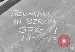 Image of President Harry S Truman Berlin Germany, 1945, second 21 stock footage video 65675030666