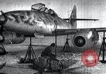 Image of ME-262 aircraft up on maintenance stands Germany, 1943, second 1 stock footage video 65675030710
