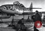 Image of ME-262 aircraft up on maintenance stands Germany, 1943, second 2 stock footage video 65675030710