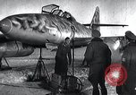 Image of ME-262 aircraft up on maintenance stands Germany, 1943, second 3 stock footage video 65675030710