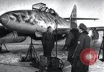 Image of ME-262 aircraft up on maintenance stands Germany, 1943, second 4 stock footage video 65675030710