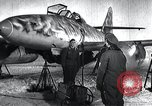 Image of ME-262 aircraft up on maintenance stands Germany, 1943, second 5 stock footage video 65675030710