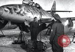 Image of ME-262 aircraft up on maintenance stands Germany, 1943, second 6 stock footage video 65675030710