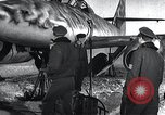 Image of ME-262 aircraft up on maintenance stands Germany, 1943, second 8 stock footage video 65675030710