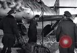 Image of ME-262 aircraft up on maintenance stands Germany, 1943, second 9 stock footage video 65675030710