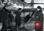Image of ME-262 aircraft up on maintenance stands Germany, 1943, second 10 stock footage video 65675030710