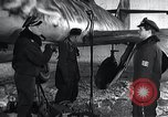Image of ME-262 aircraft up on maintenance stands Germany, 1943, second 11 stock footage video 65675030710