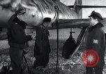 Image of ME-262 aircraft up on maintenance stands Germany, 1943, second 12 stock footage video 65675030710