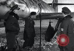 Image of ME-262 aircraft up on maintenance stands Germany, 1943, second 13 stock footage video 65675030710