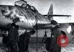 Image of ME-262 aircraft up on maintenance stands Germany, 1943, second 18 stock footage video 65675030710