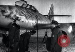 Image of ME-262 aircraft up on maintenance stands Germany, 1943, second 19 stock footage video 65675030710
