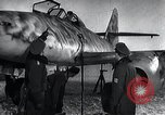 Image of ME-262 aircraft up on maintenance stands Germany, 1943, second 21 stock footage video 65675030710