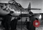 Image of ME-262 aircraft up on maintenance stands Germany, 1943, second 22 stock footage video 65675030710