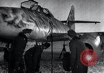Image of ME-262 aircraft up on maintenance stands Germany, 1943, second 23 stock footage video 65675030710