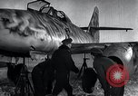 Image of ME-262 aircraft up on maintenance stands Germany, 1943, second 24 stock footage video 65675030710
